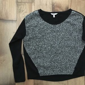 Athleta Gray Black Long Sleeve Wool Blend Sweater